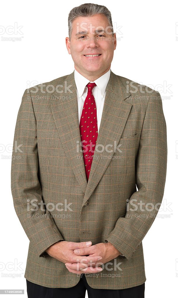 Satisfied Mature Man Posing royalty-free stock photo