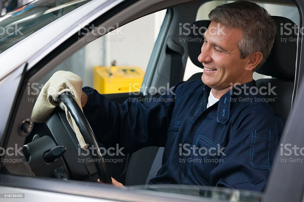 Satisfied Mechanic stock photo