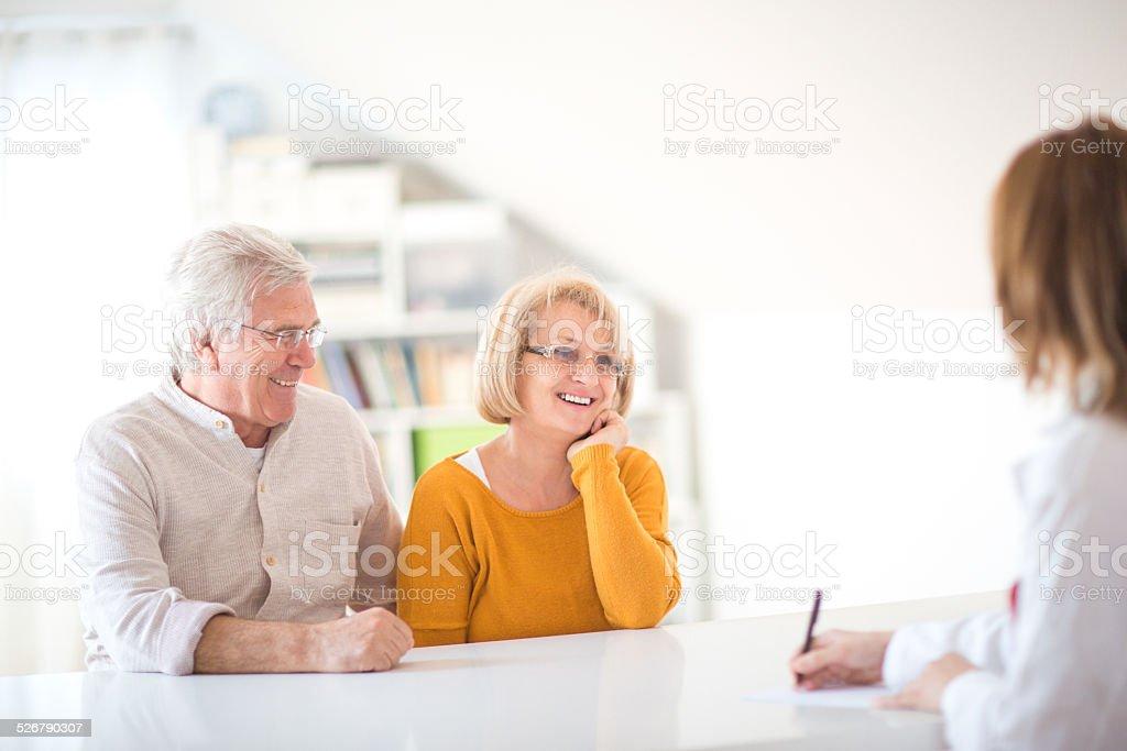 Satisfied patients stock photo