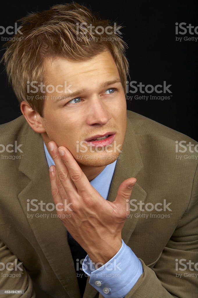 Satisfied smiling businessman royalty-free stock photo