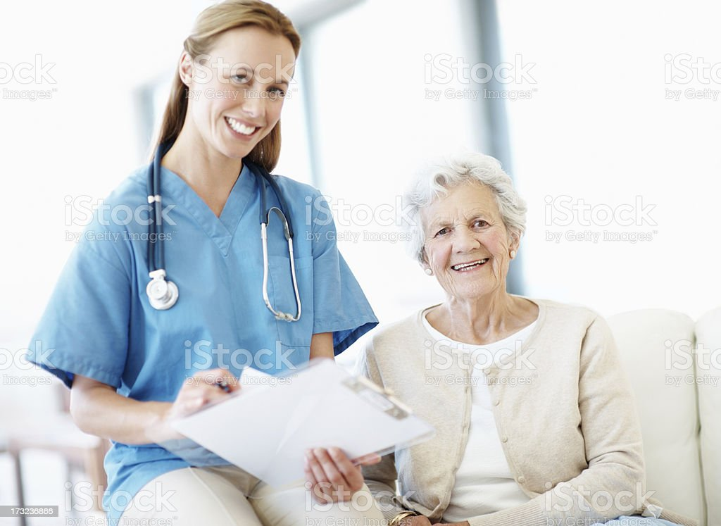 Satisfied with her health! royalty-free stock photo