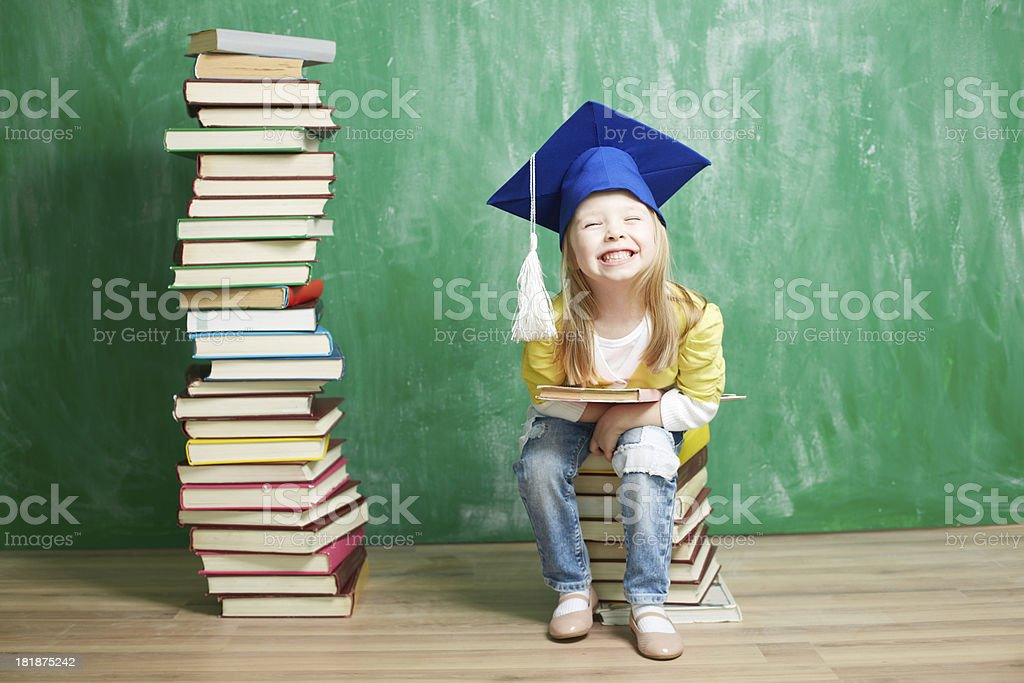 Satisfied with learning royalty-free stock photo