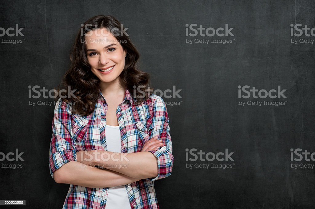 Satisfied Young Woman stock photo