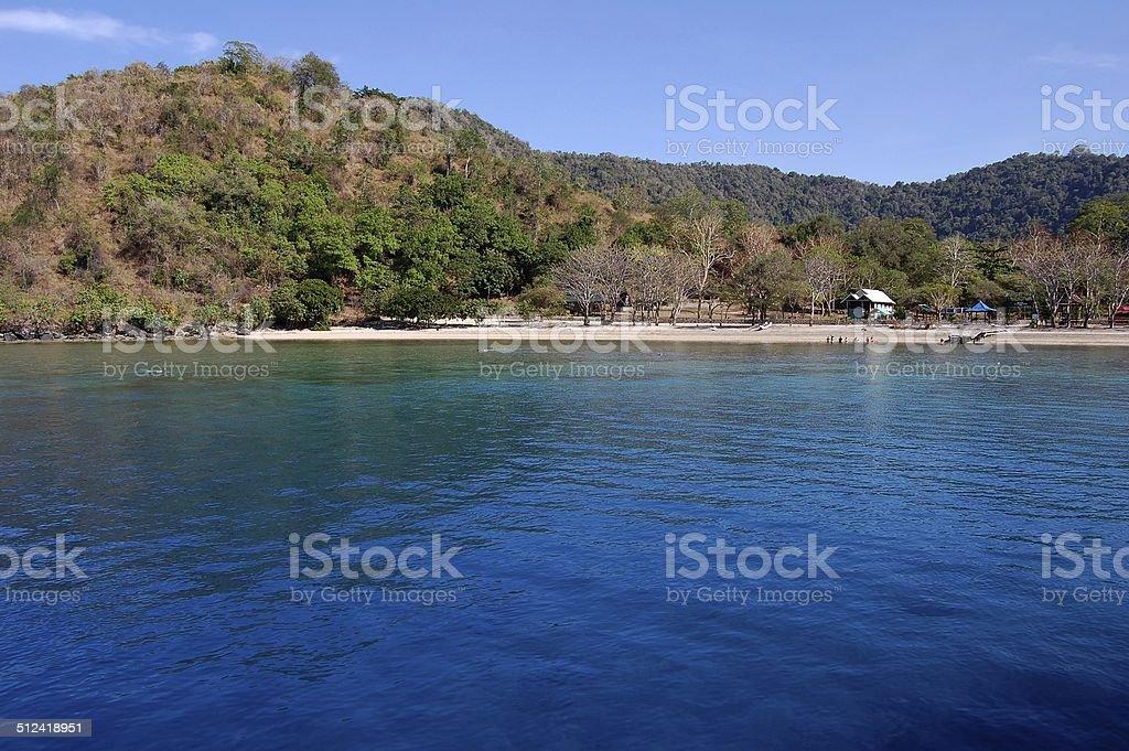 Satonda Island, North Sumbawa Indonesia stock photo