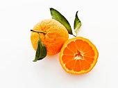 satsuma mandarins with leaves