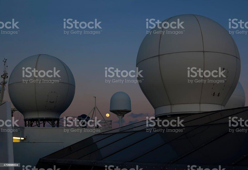 Sattellite antena domes stock photo