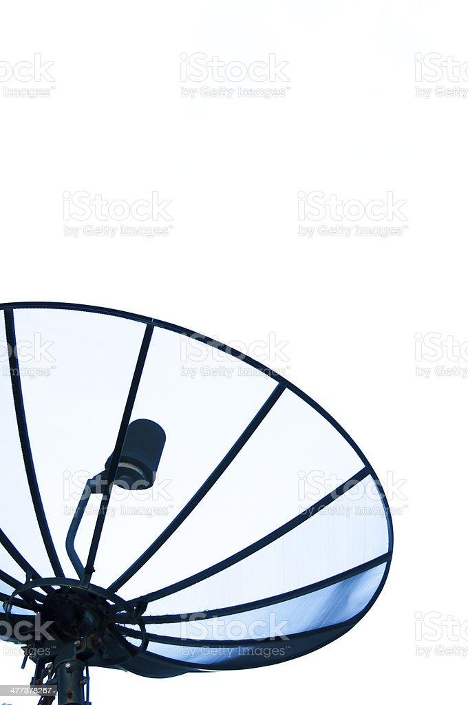 Sattellite dish with white background stock photo
