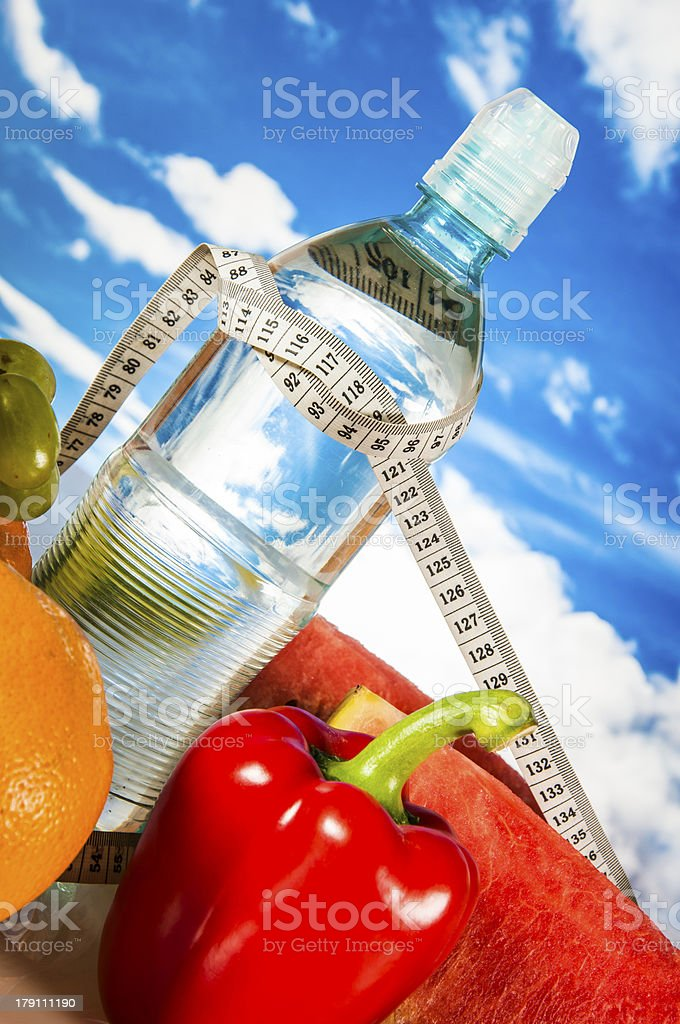 Saturated fitness composition royalty-free stock photo