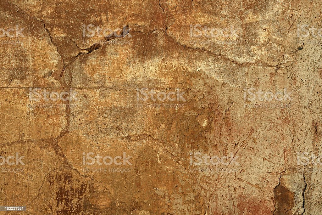Saturated grungy Roman wall royalty-free stock photo