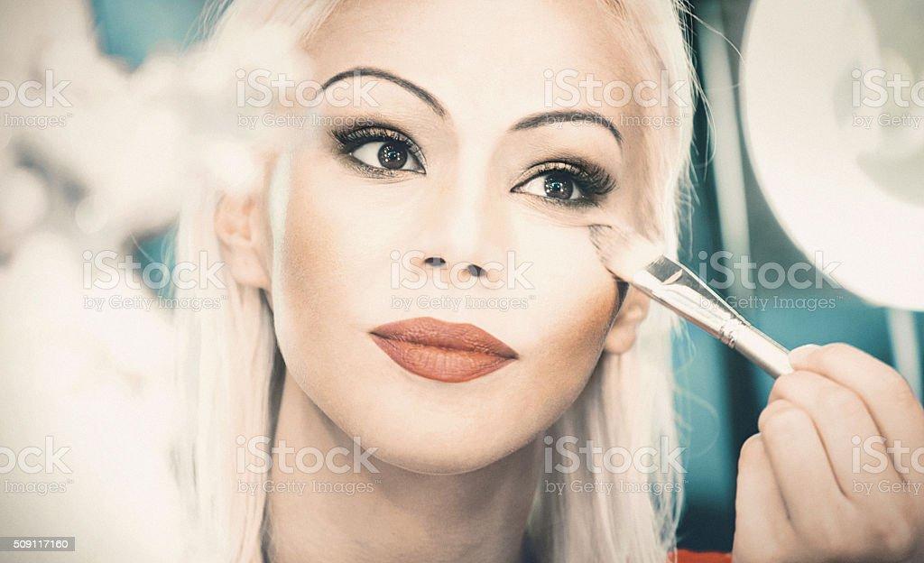 Saturday ight makeup. stock photo