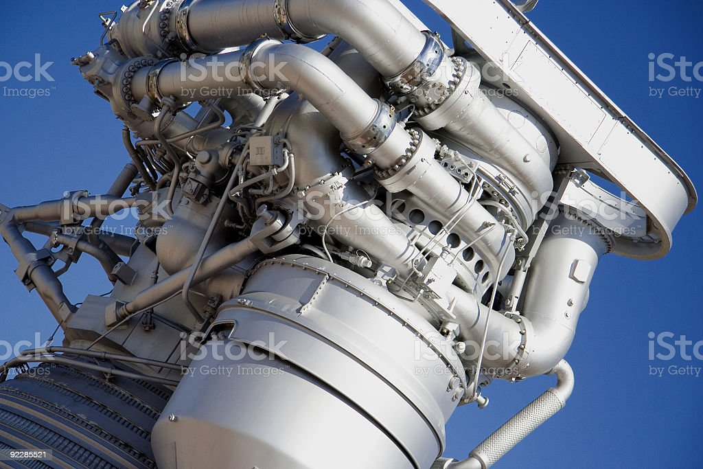 Saturn Rocket Booster stock photo