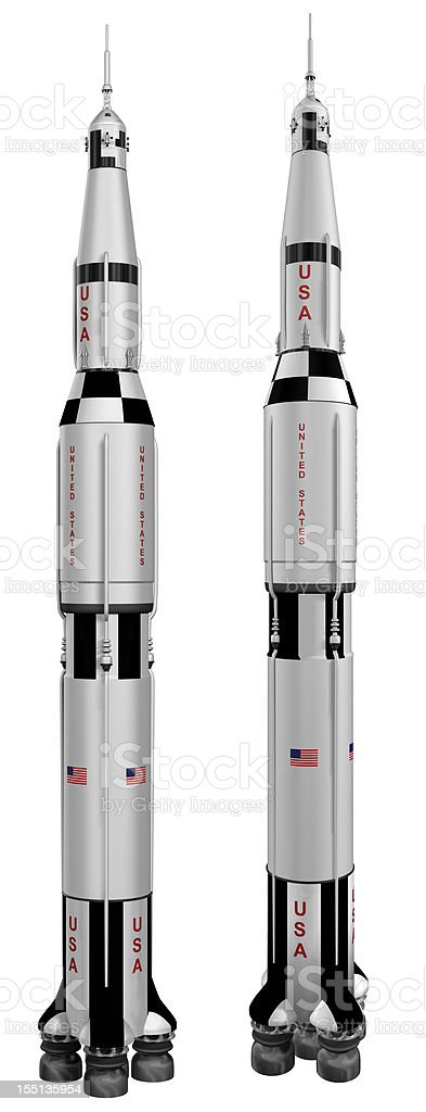 Saturn V Rocket 3D stock photo