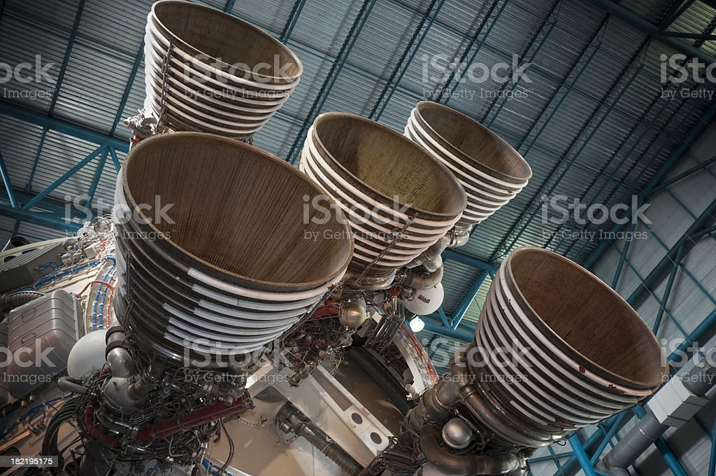 Saturn V Rocket Engines stock photo