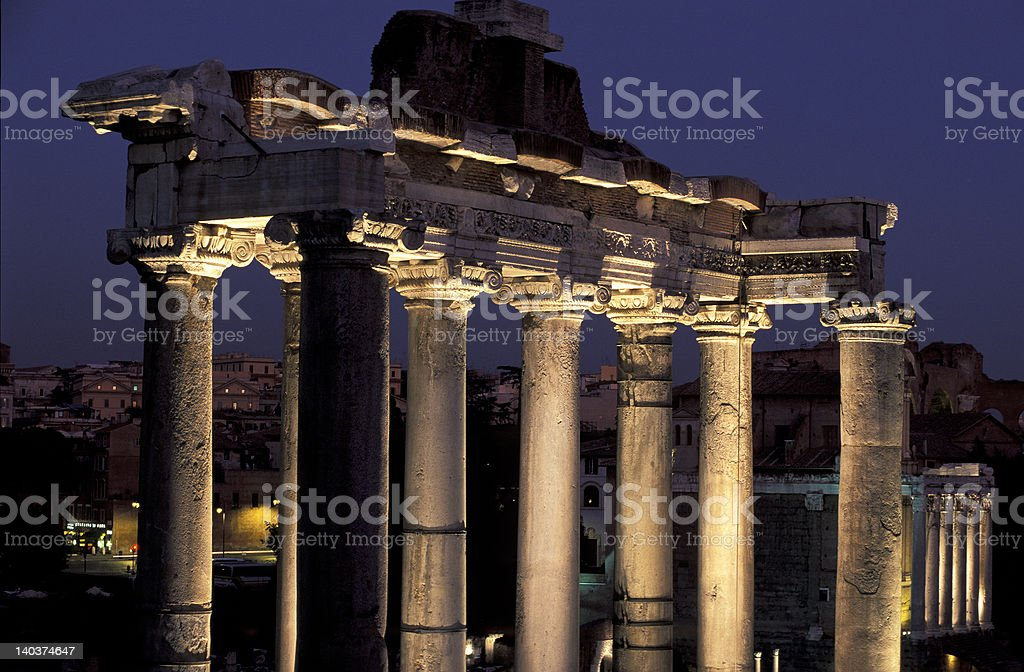 Saturno Temple royalty-free stock photo