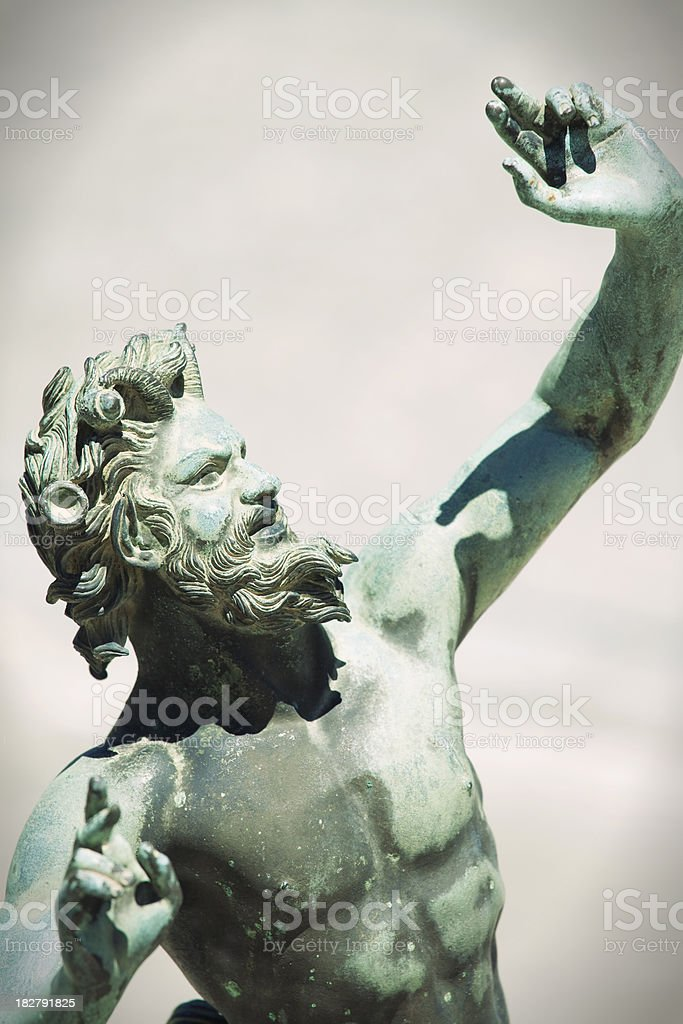 Satyr (Fauno) Bronze Statue Faun in Pompeii, Italy stock photo