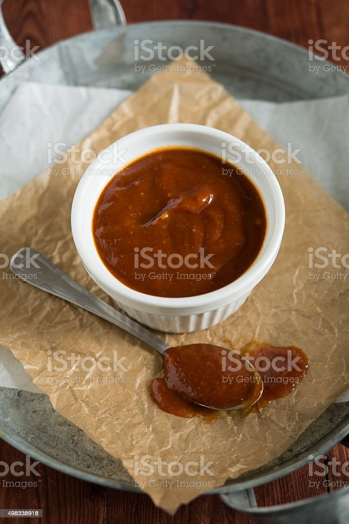 BBQ sauce / barbecue sauce stock photo