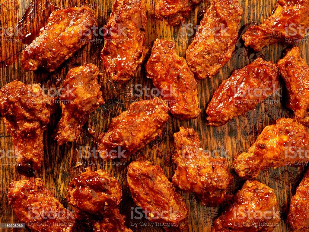 BBQ Sauce Chicken Wings stock photo