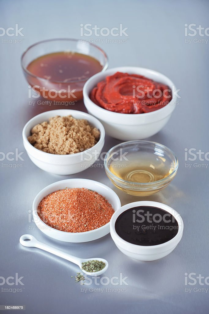 BBQ Sauce Ingredients royalty-free stock photo