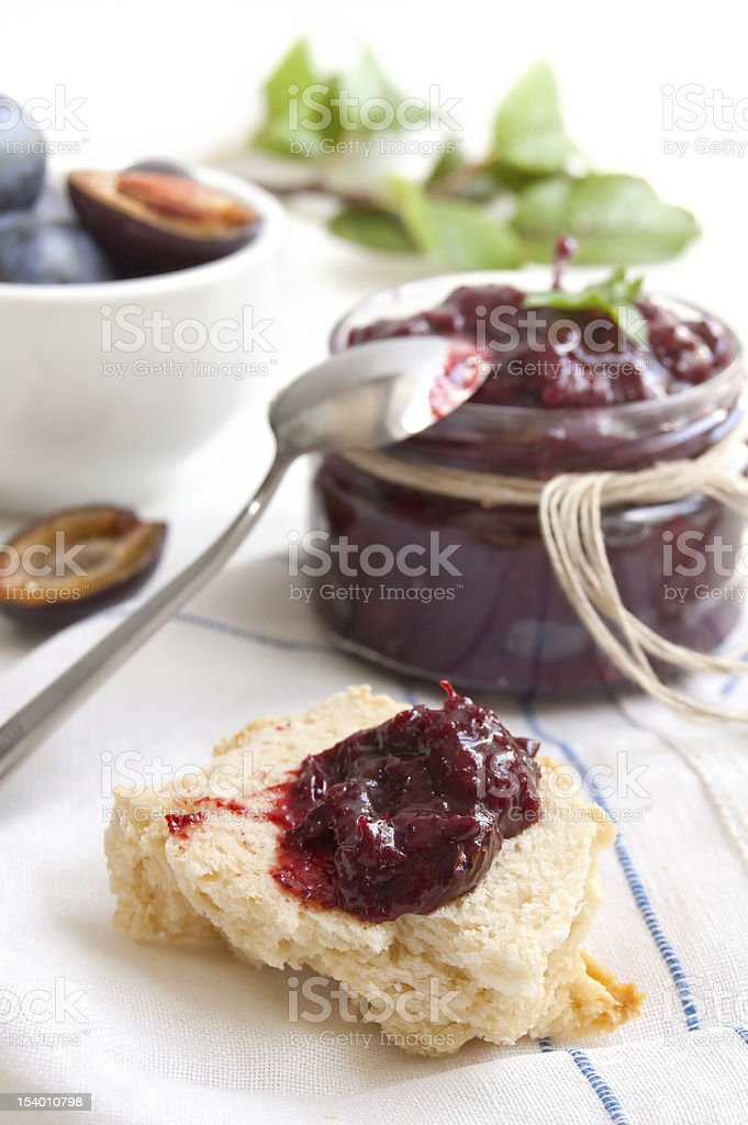 Sauce of plums with spice royalty-free stock photo