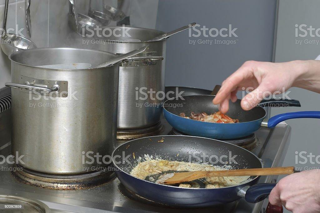 sauce preparation royalty-free stock photo