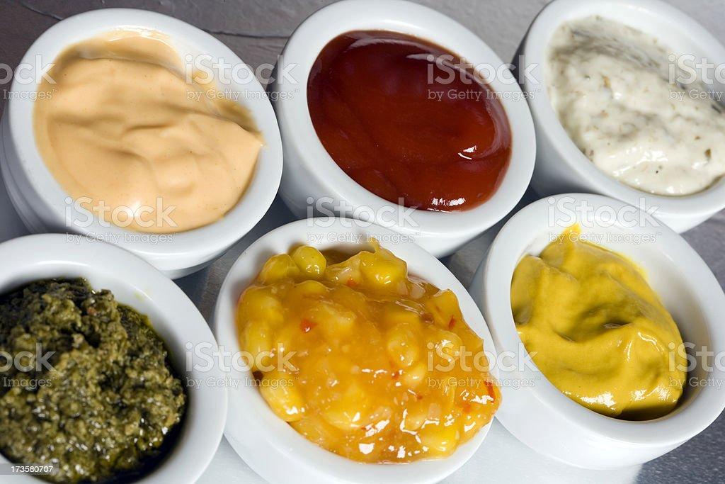 sauce selection stock photo