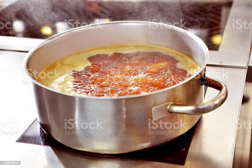 Saucepan cooking stock photo