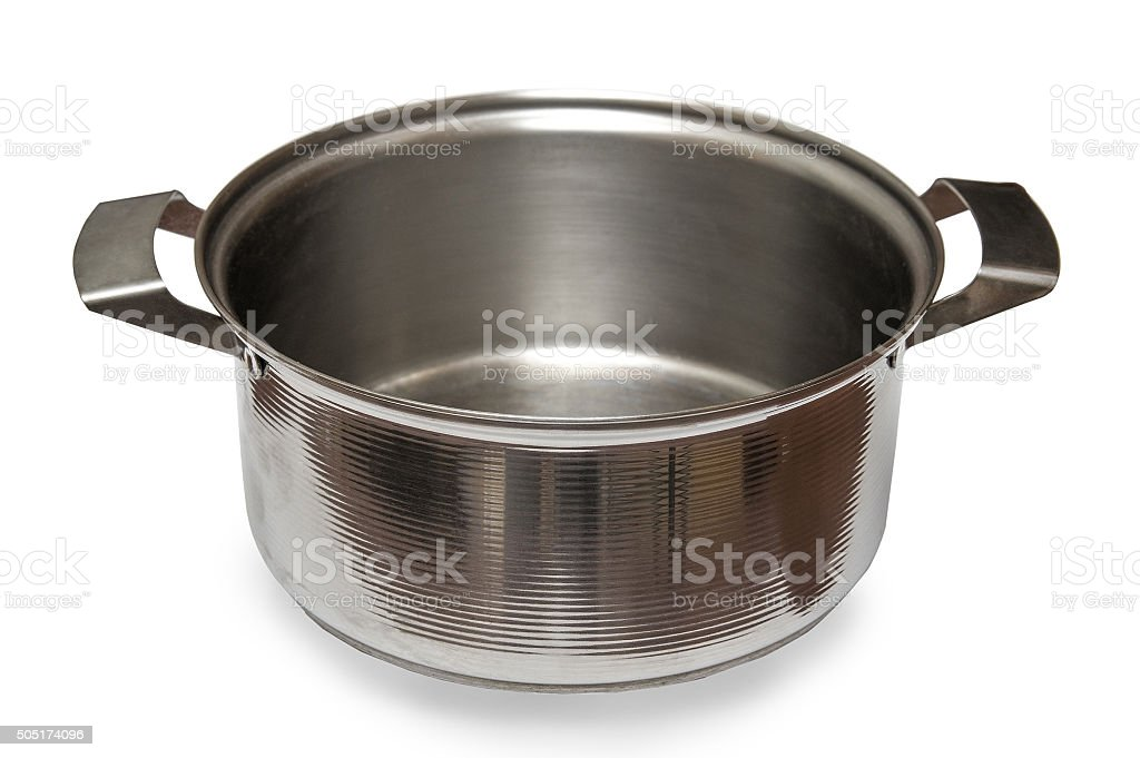 Saucepan isolated on white background stock photo