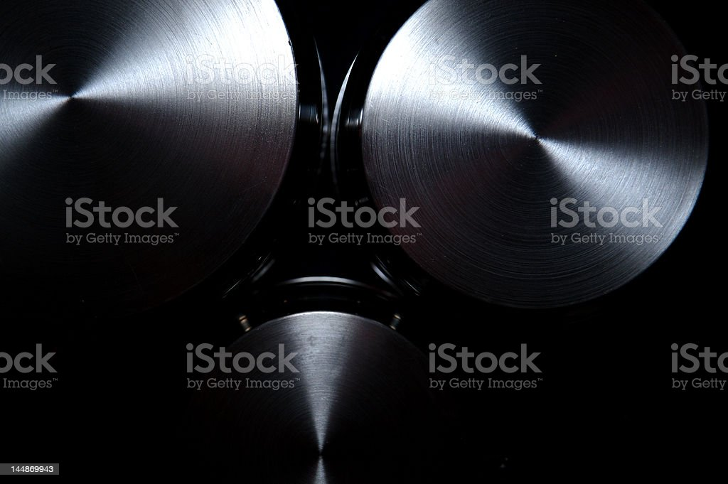Saucepans isolated royalty-free stock photo