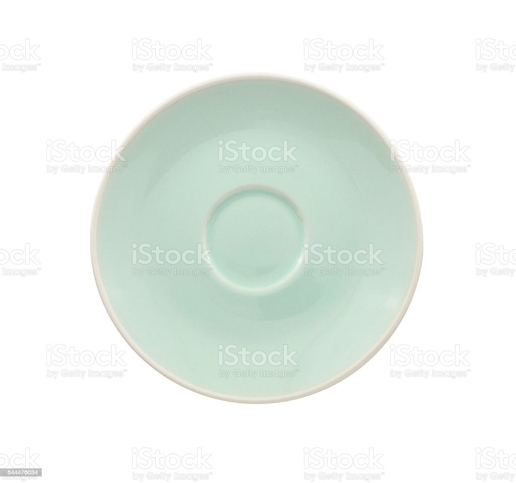 saucer isolated on a white background stock photo