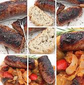 Saucisse grillée ratatouille - Casse croûte