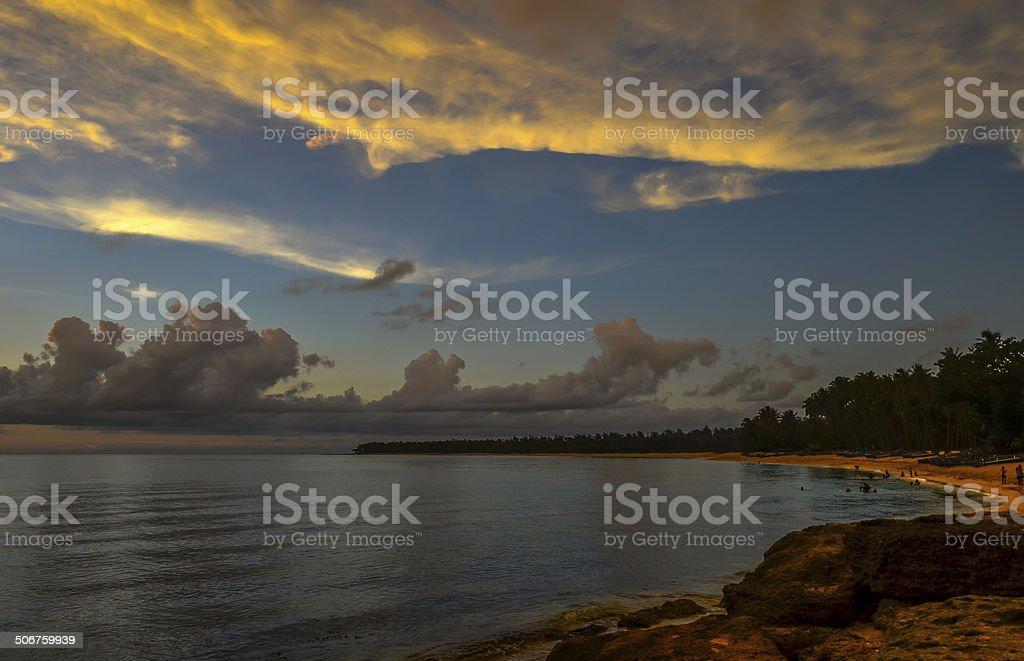 Saud Beach at Sunset in Pagudpud Philippines stock photo