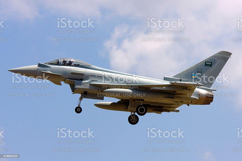 Saudi AIr Force Typhoon jet stock photo