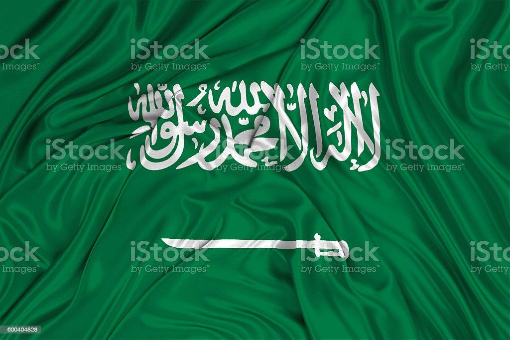Saudi Arabia flag stock photo