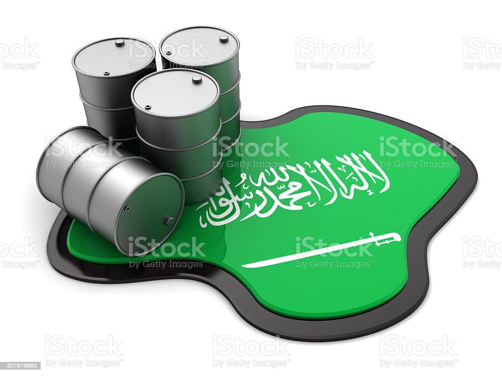 Saudi arabia oil stock photo