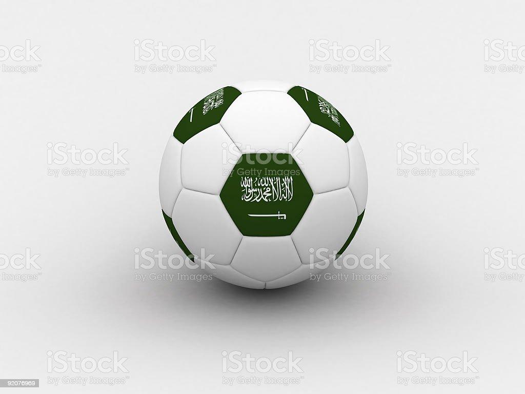 Saudi Arabia soccer ball royalty-free stock photo