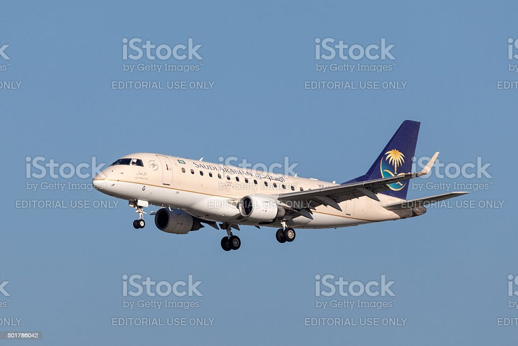 Saudi Arabian Airlines Airbus A320 stock photo