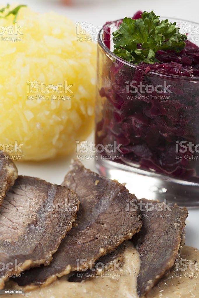 sauerbraten stock photo