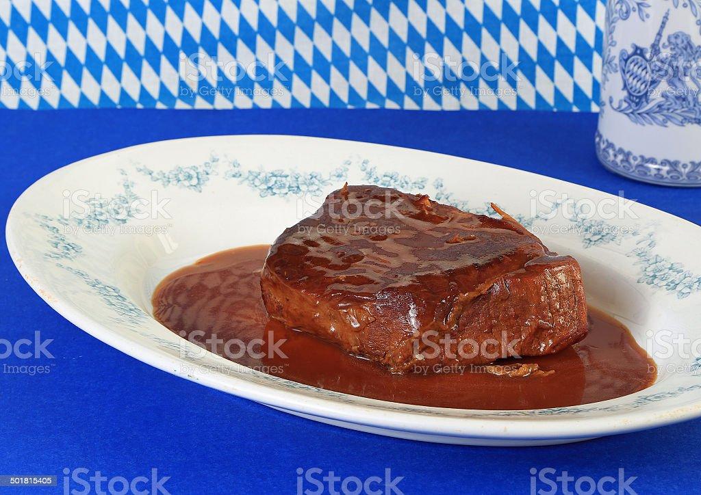 Sauerbraten Roast Beef stock photo