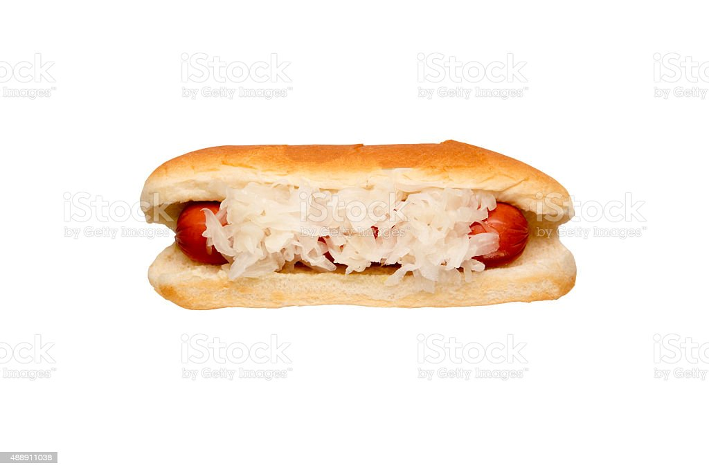 Sauerkraut Hot Dog stock photo