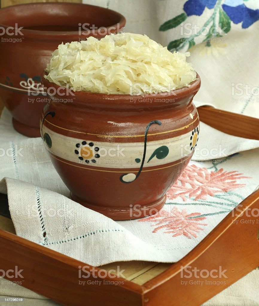sauerkraut in a bowl royalty-free stock photo