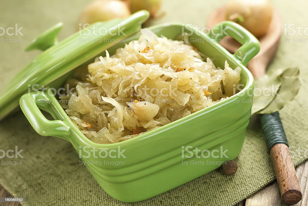 Sauerkraut stock photo