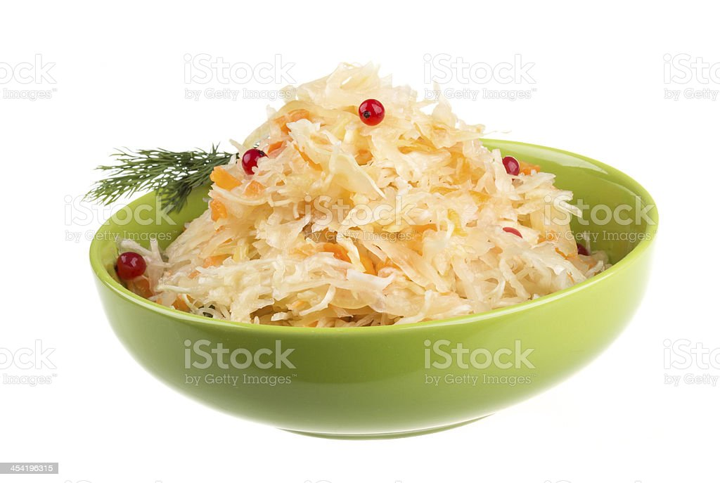 Sauerkraut - Russian national food royalty-free stock photo