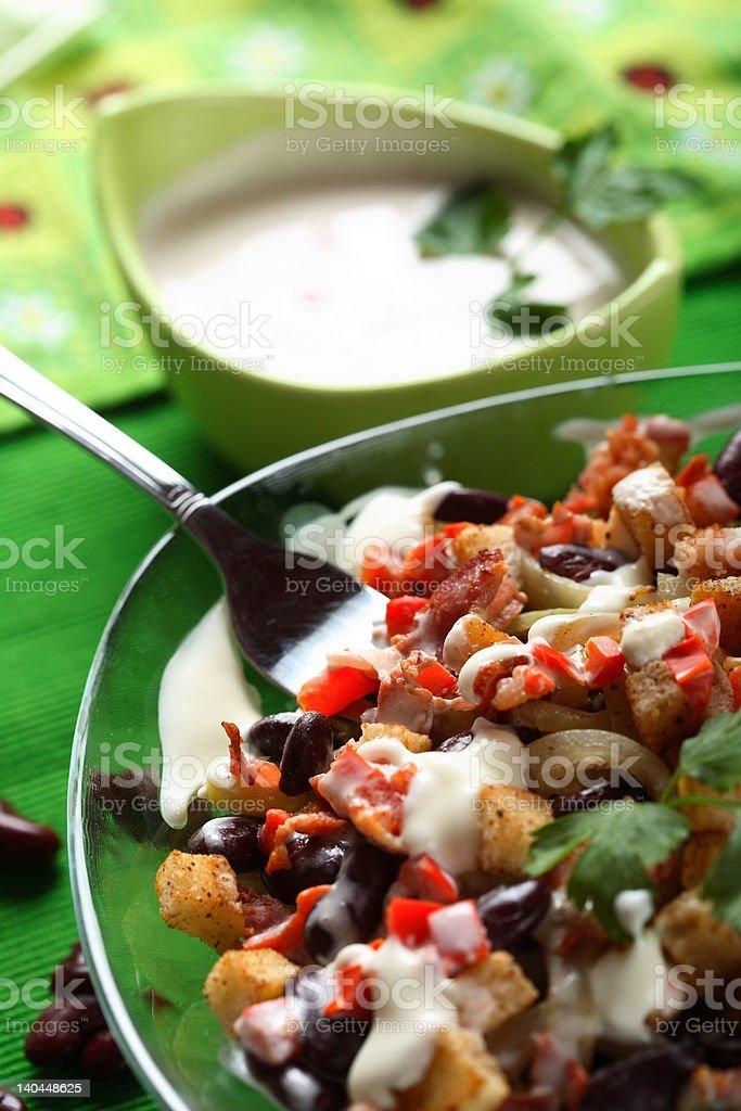 Sauerkraut salad royalty-free stock photo