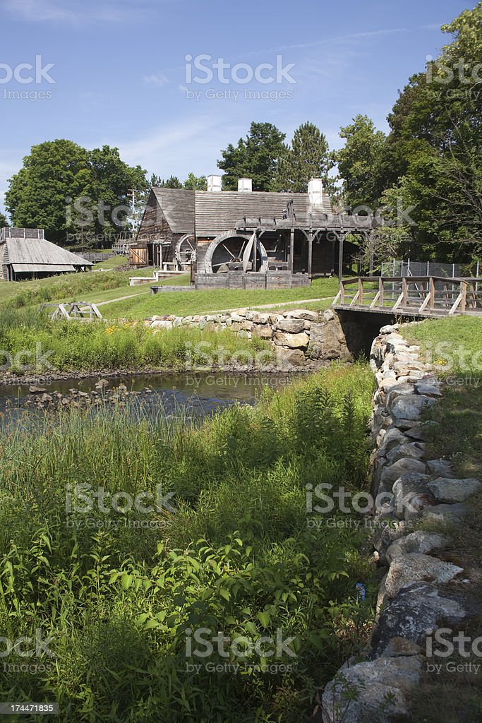 Saugus Iron Works Massachusetts royalty-free stock photo