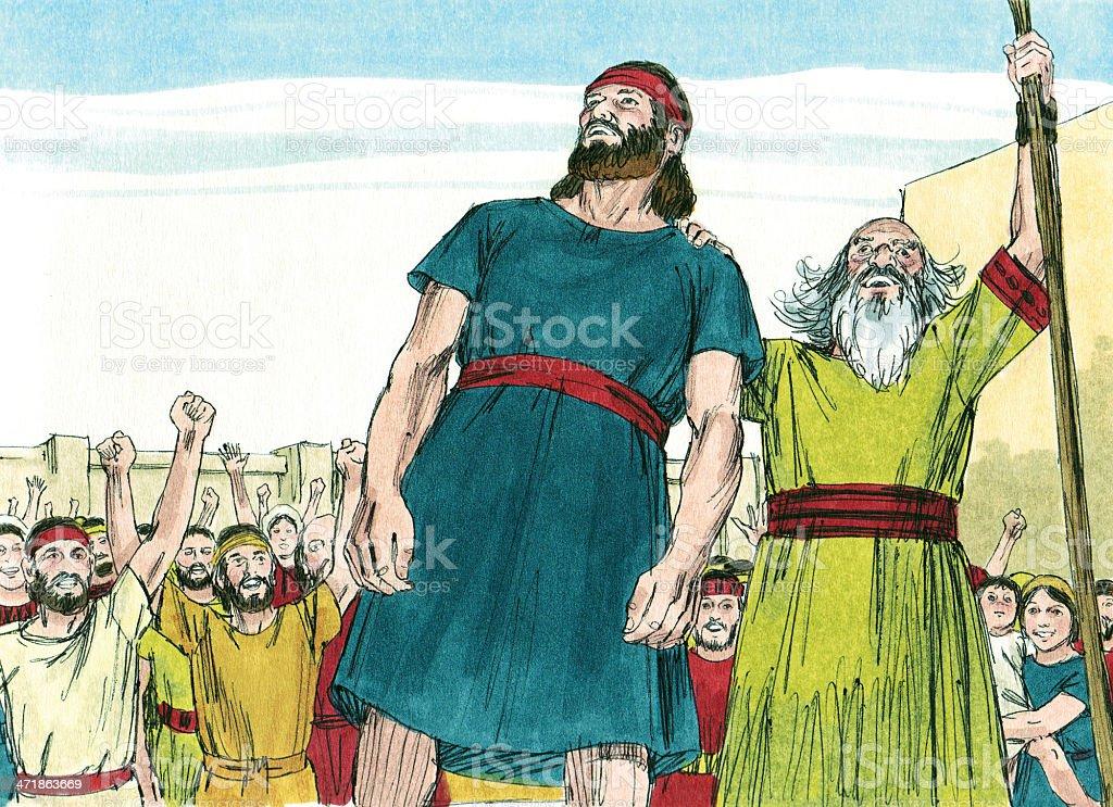 Saul Announced as King stock photo