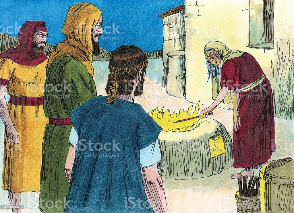Saul Approaches Spiritess stock photo