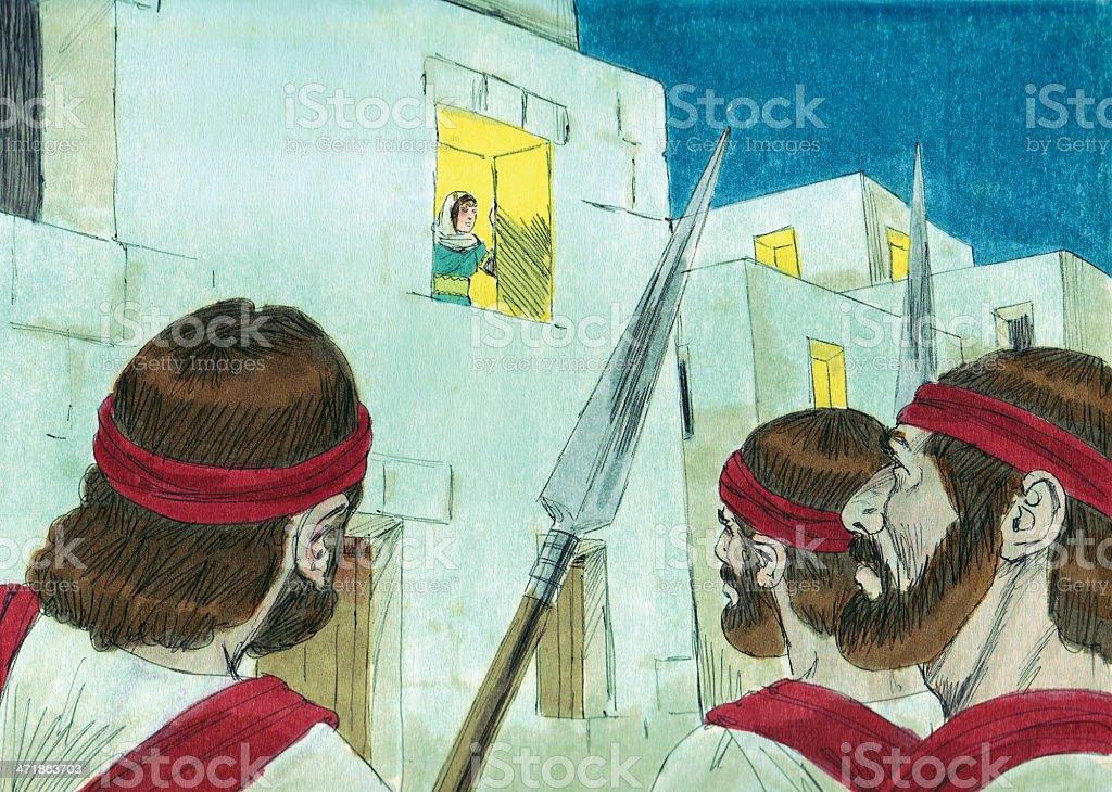 Saul Sends Men to Watch David stock photo