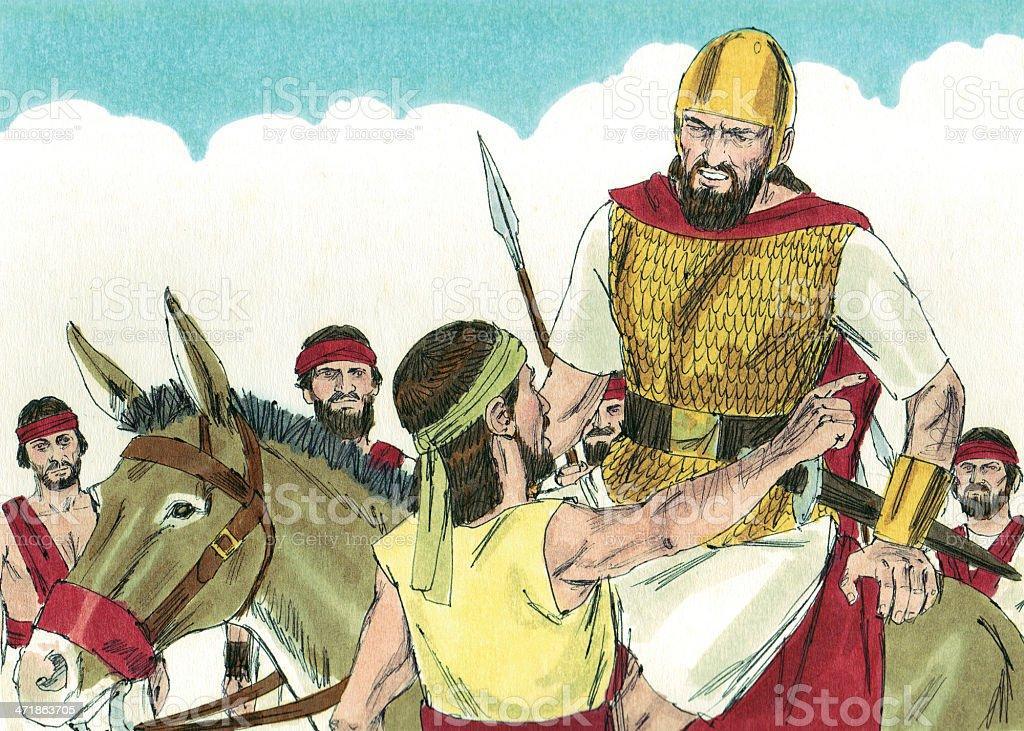 Saul sought David stock photo