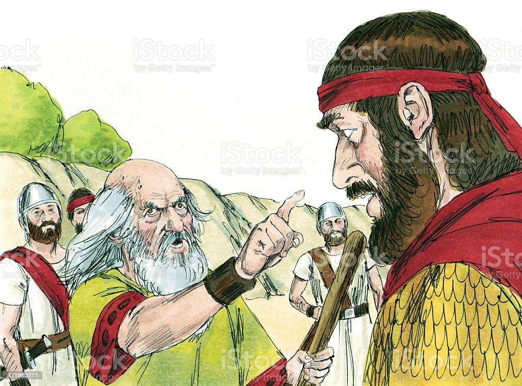 Saul with Angry Samuel stock photo