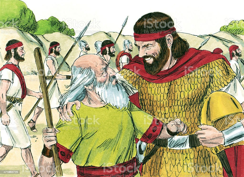 Saul--Returning from Battle stock photo